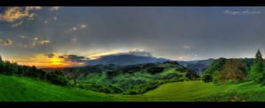 Bucegi Sunrise - Panorama HDR by vxside