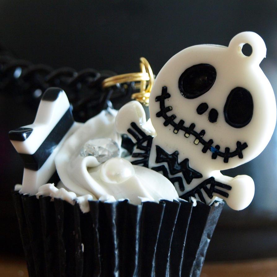 Jack Skellington cupcake by AndyGlamasaurus