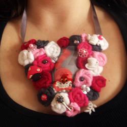 Cheshire Cat Bib Necklace