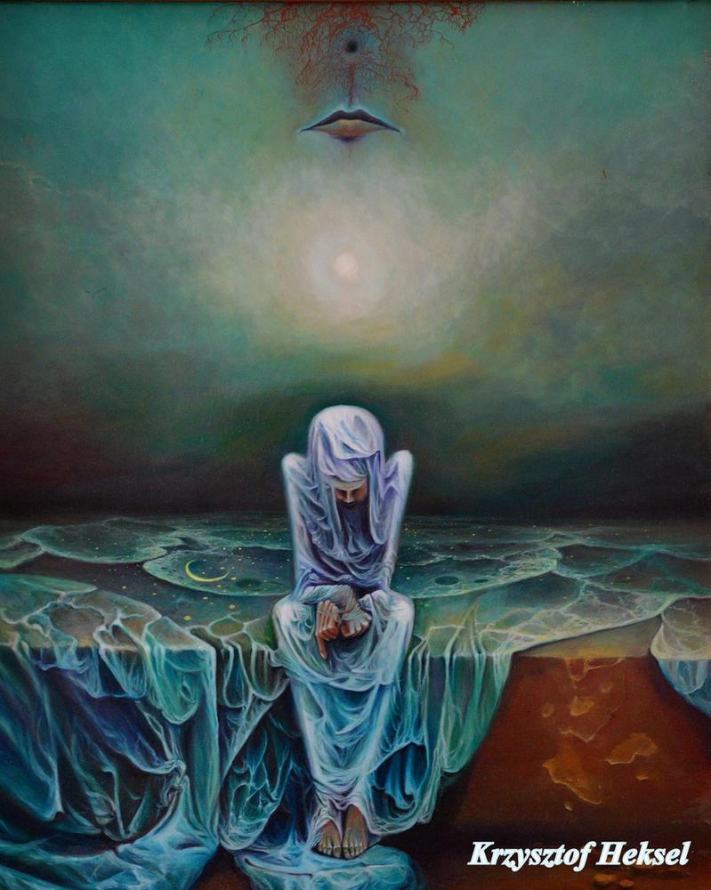 Untitled, KHeksel, olej na plycie pilsniowej by KrzysztofHeksel