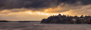 Stockholm Sunset by aliengine