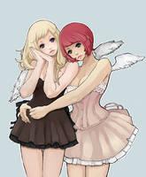 Angel Duo by bluwings