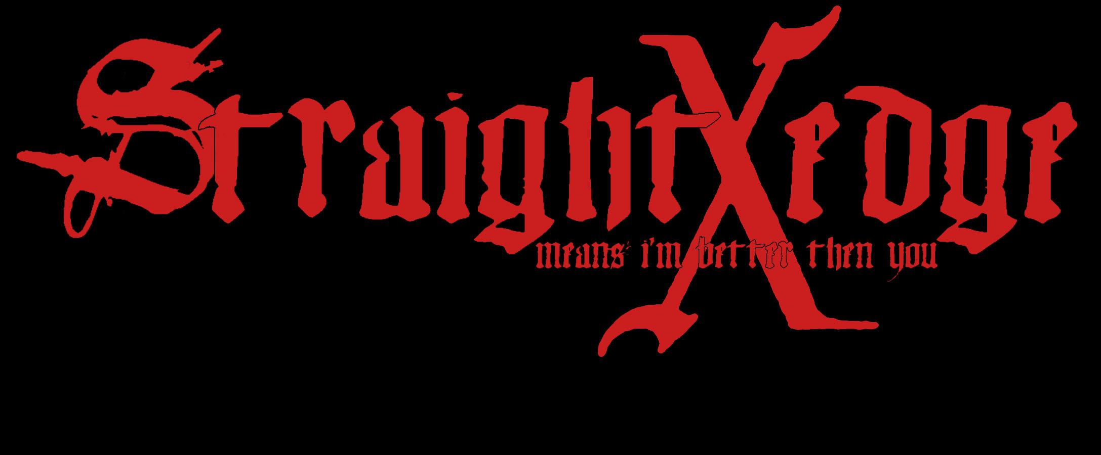 Straight Edge By Crosseyedbear On Deviantart