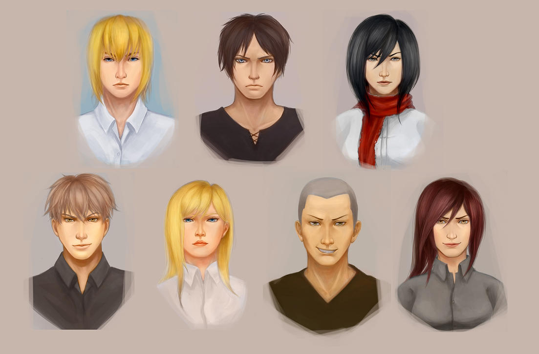 SnK 10 years later Portraits by Strvayne