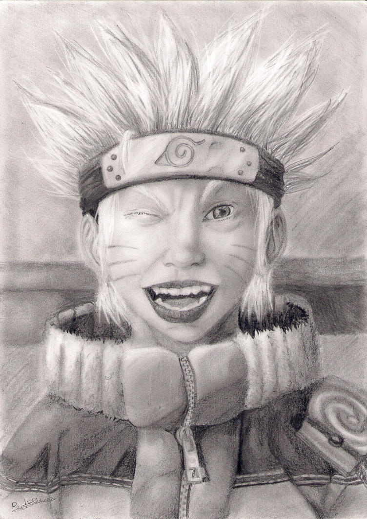 realistic portrait Naruto by LadyBlueDandelion on deviantART