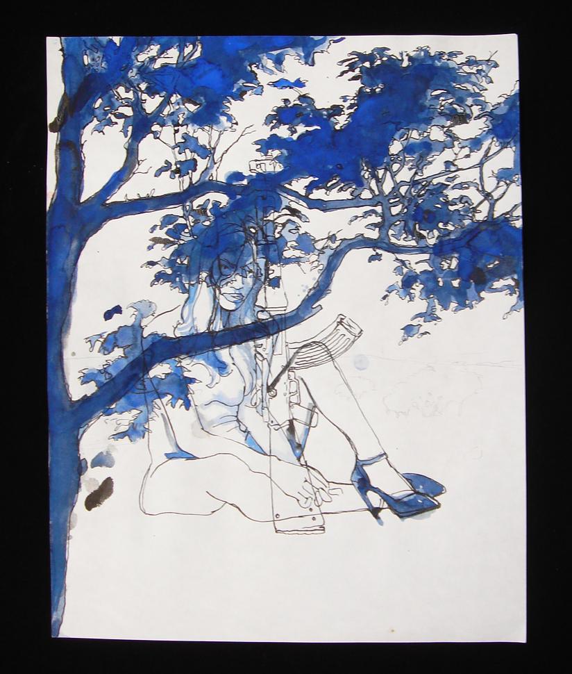 tree-06-blue-AK47 by HellYesArt