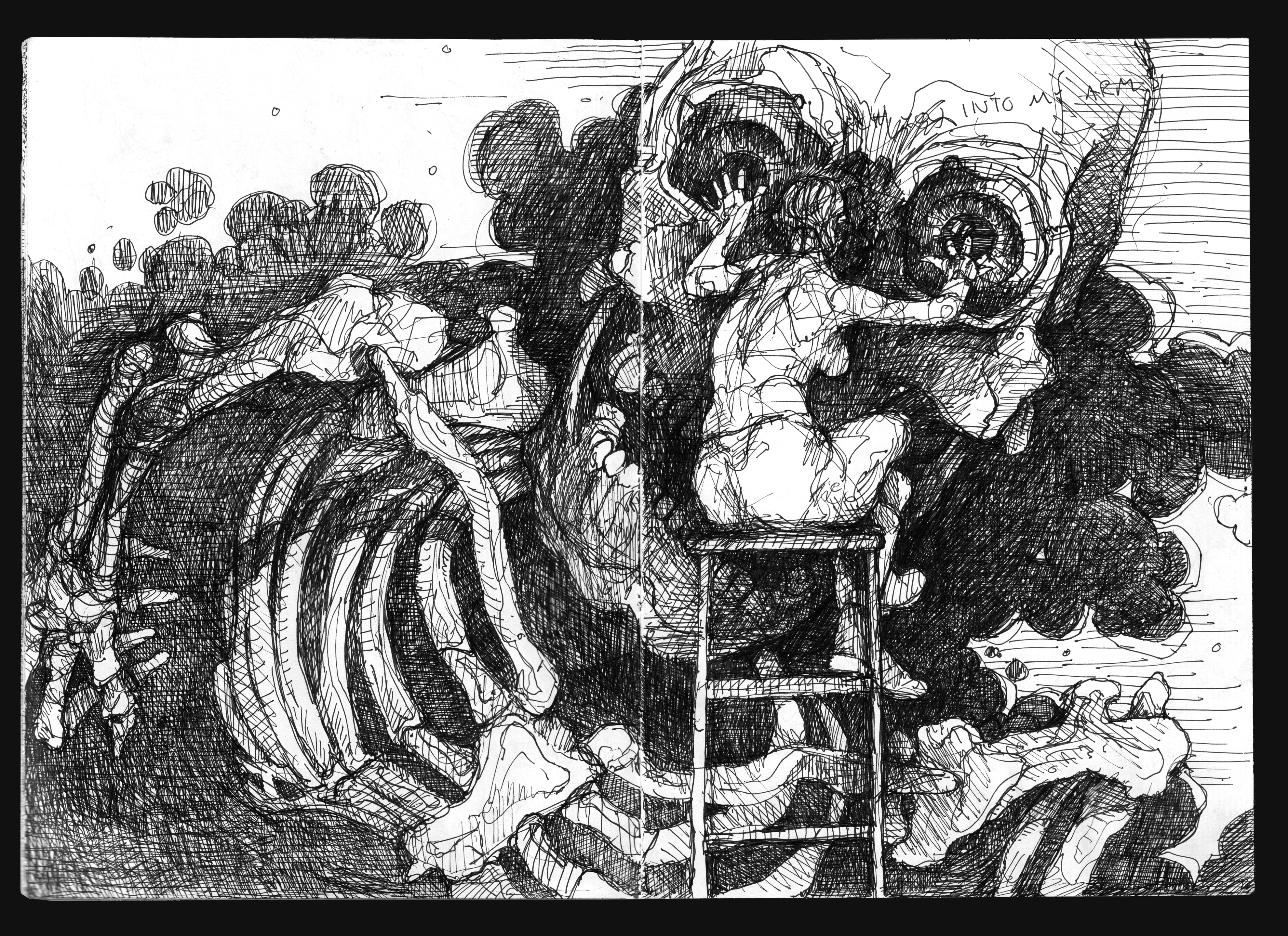 Takiyasha summons a skeleton by HellYesArt
