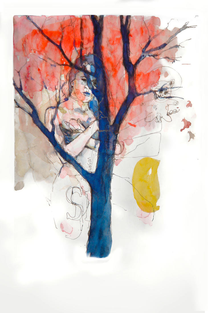Tree 8 - piggy by HellYesArt