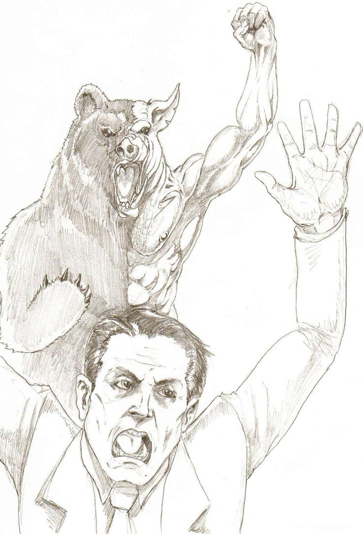 Al Gore VS. Manbearpig by Skorp77