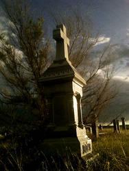 Montana Cemetery by GeminiMuse