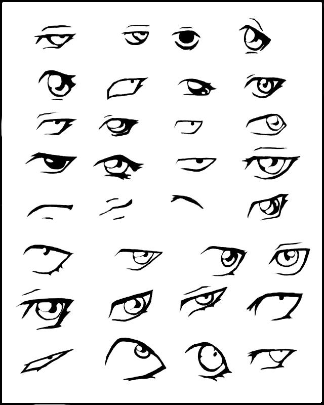 How To Draw Anime Eyes Closed