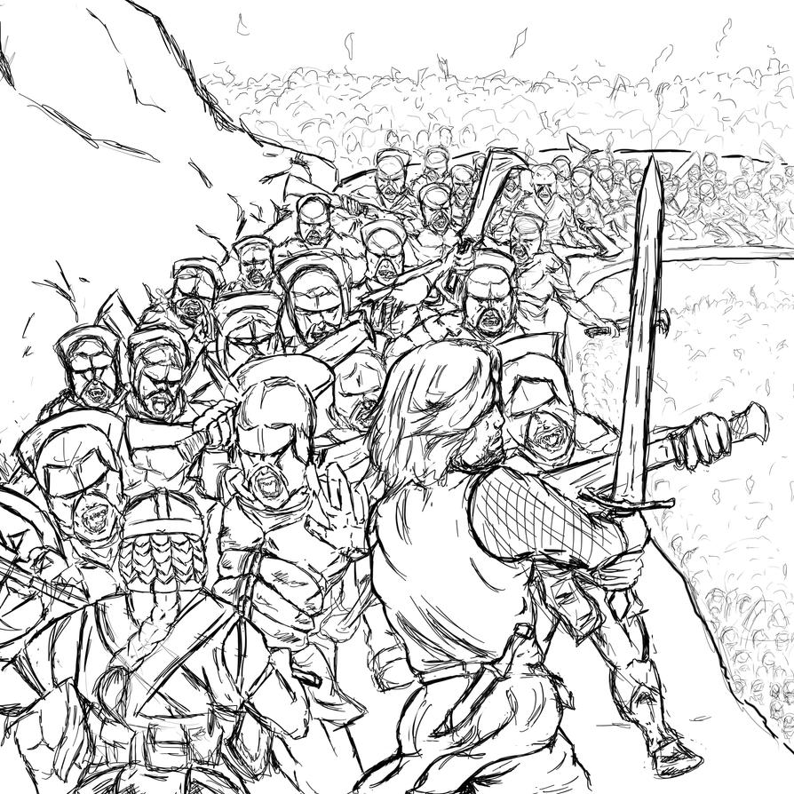 Lord of the rings battle of helms deep by luffiexxx on for Lord of the rings printable coloring pages