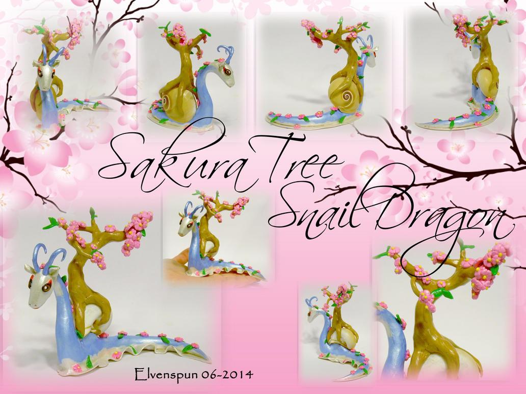 Sakura Tree Snail Dragon by MalaCembra