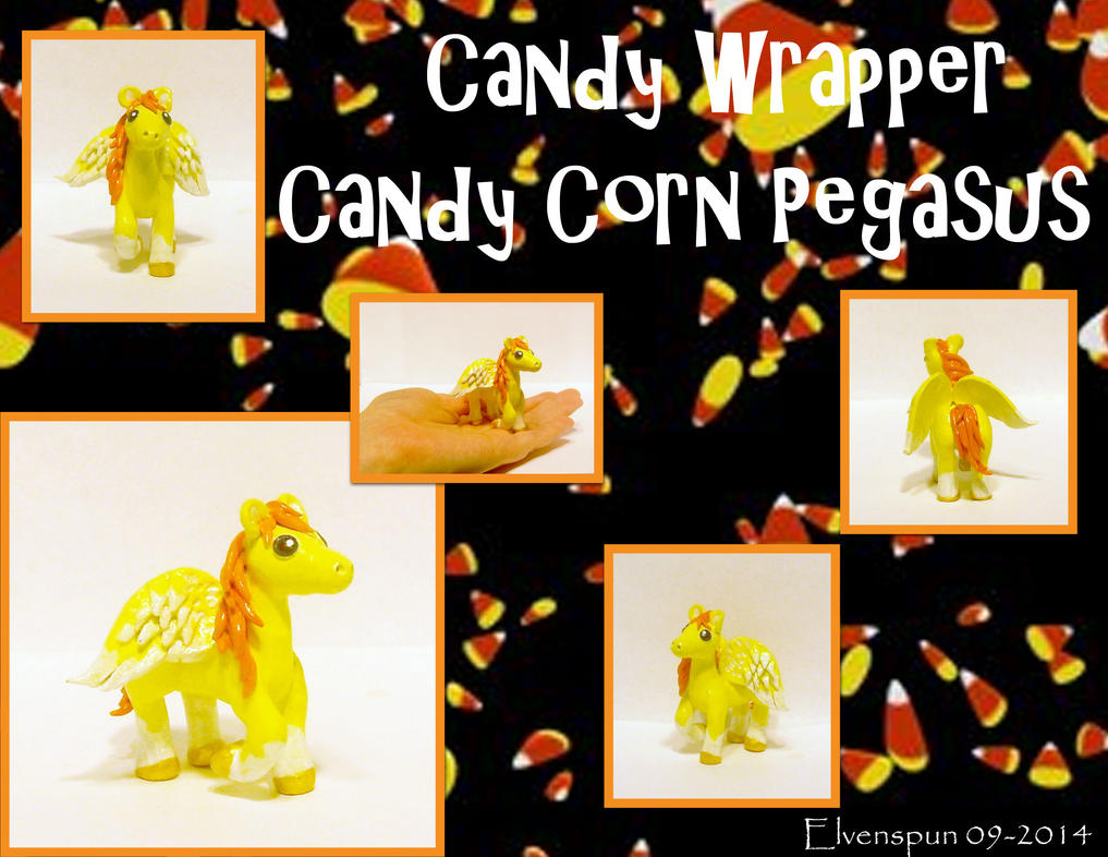 Candy Wrapper - Candy Corn Pegasus by MalaCembra