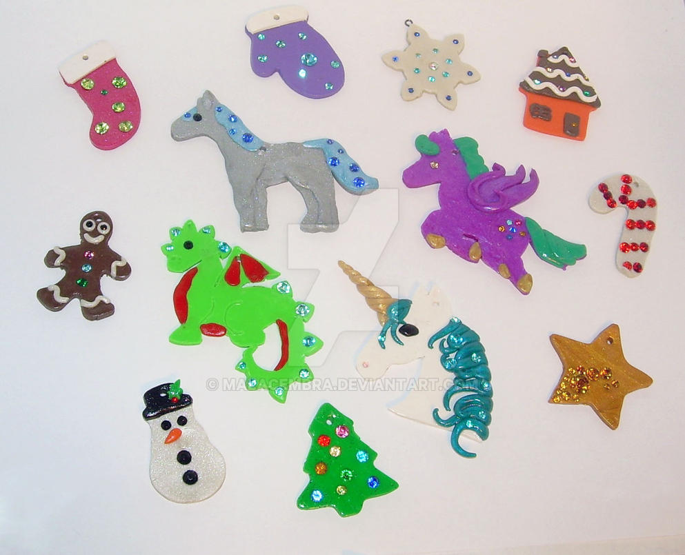 1 Dozen Blinged Cookie Ornaments by MalaCembra