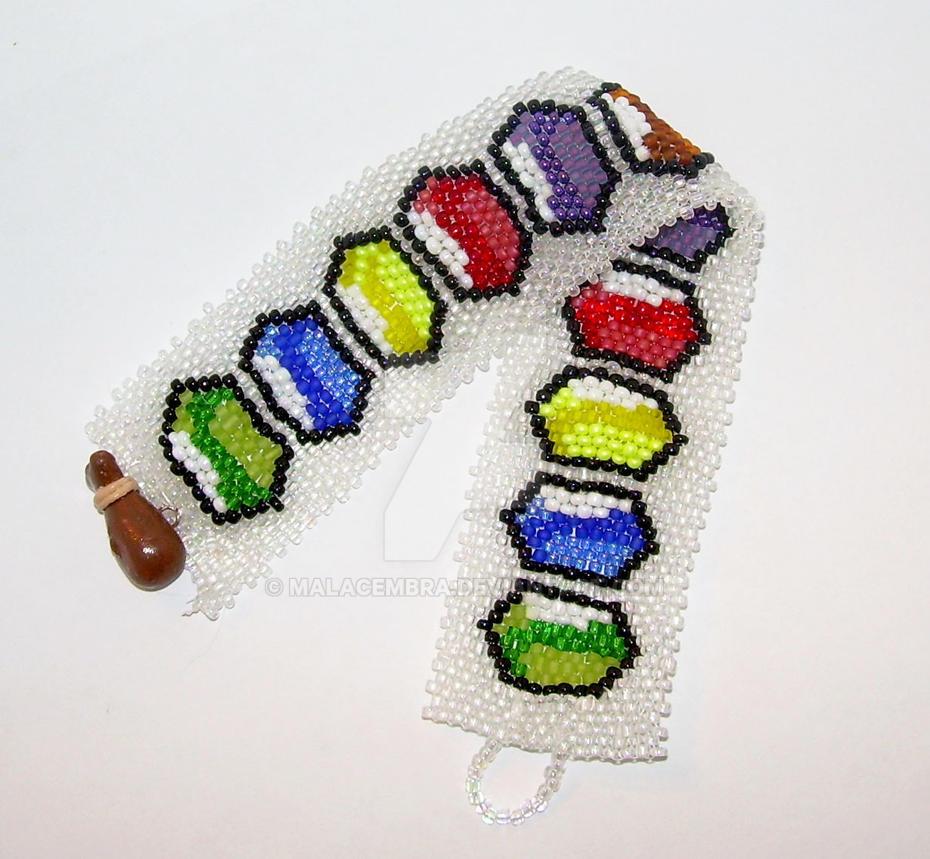 Legend of Zelda Inspired Rupee Cuff Bracelet by MalaCembra