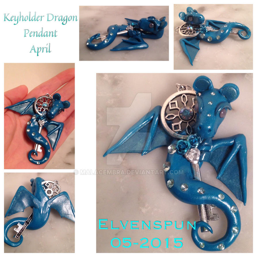 Keyholder Dragon Pendant - April by MalaCembra