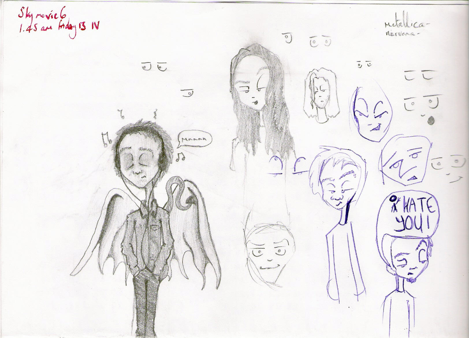 Doodle Art Character Design : Doodle page character design by versteht ihr mich on