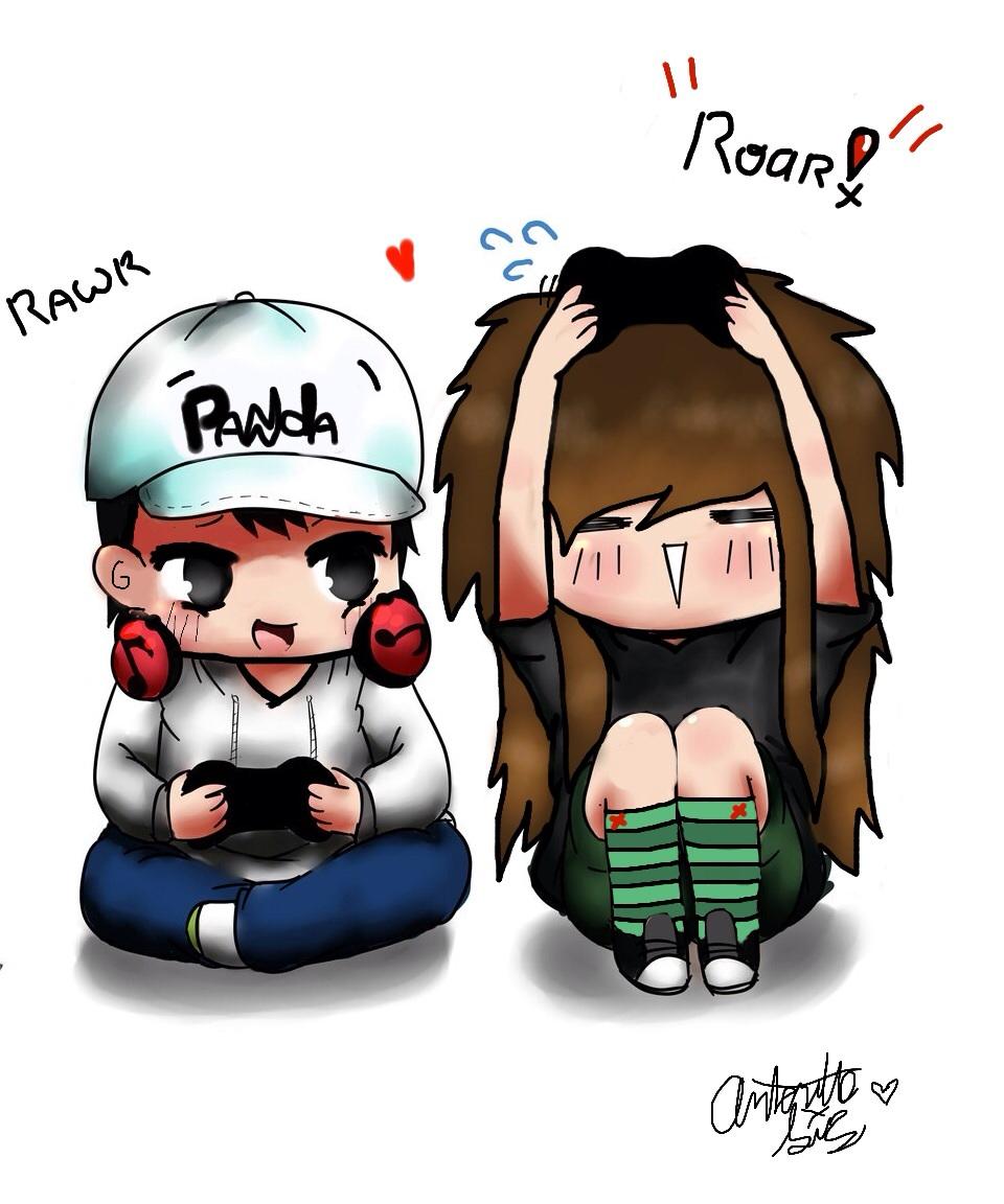 Kawaii gamer couple by toxicpenguin338 on deviantart - Anime gamer boy ...