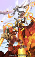 Azure Kite VS Haseo by hoseou