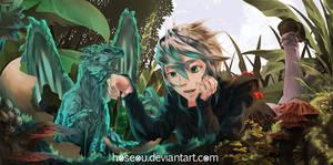 Baby Blue Dragon by hoseou