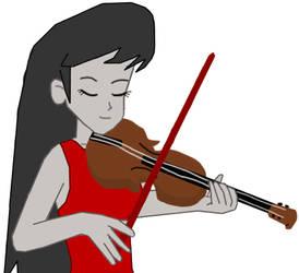 Octavia Melody Playing Violin