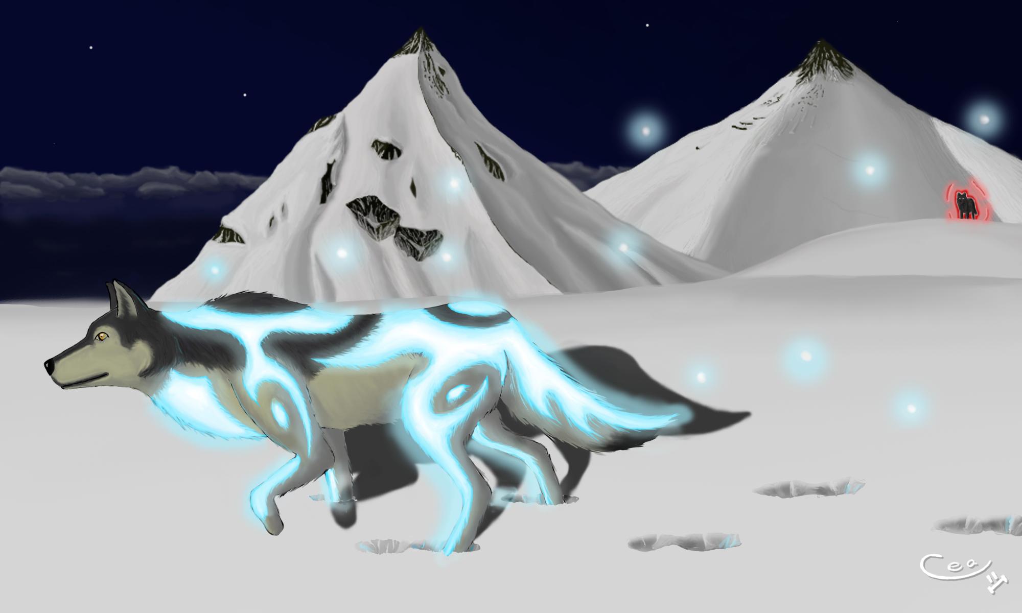 Tema general de dibujo. Magic_wolf_by_dekeam-d7b9u51