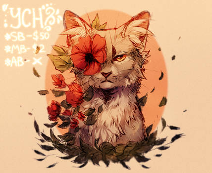 Red flowers YCH OPEN