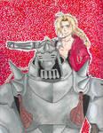 Fullmetal Alchemist painting by PinkDerpyUnicornz