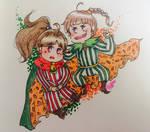 Palom and Porom Chibis by PinkDerpyUnicornz