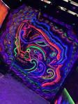 Shoker fluorescent art abstract girl vape shop
