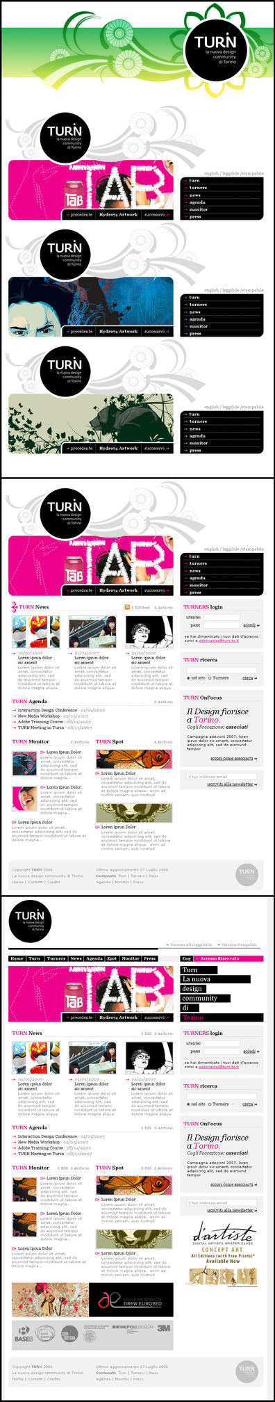 TURN Homepage v2.0 by insanedesign