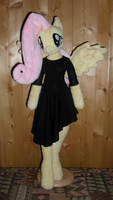 fluttershy anthro plushie evening dress