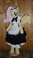 fluttershy anthro plushie maid dress