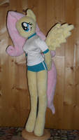 fluttershy anthro plushie gym suit