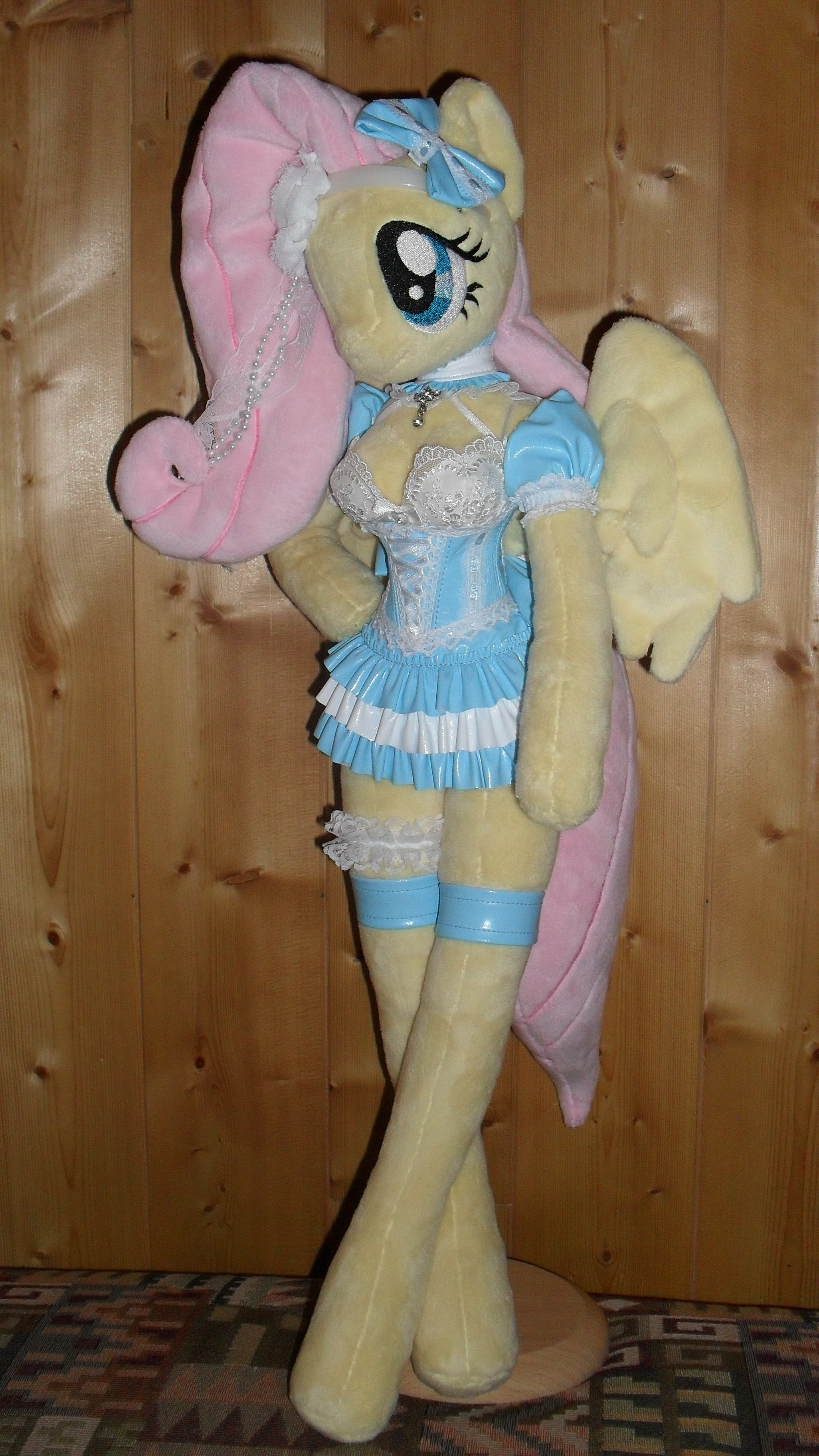 fluttershy anthro plushie folded wings