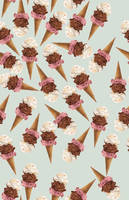 ice-cream repeating pattern by hyperster