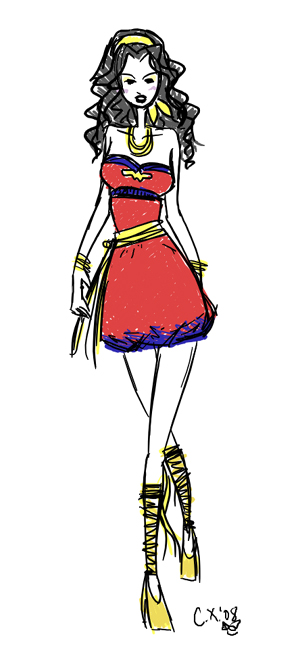 Wonder Woman Fashion by dreamsxofxhiei