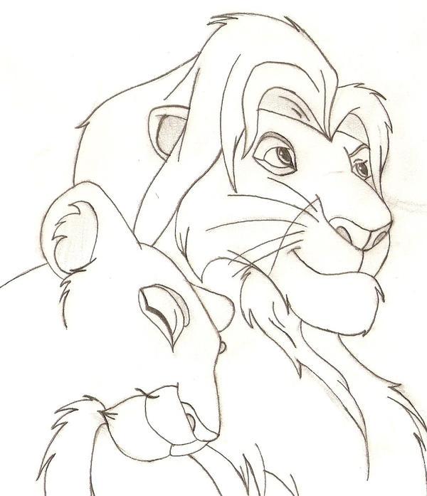 Simba And Nala Love Drawings Simba With Nala...600