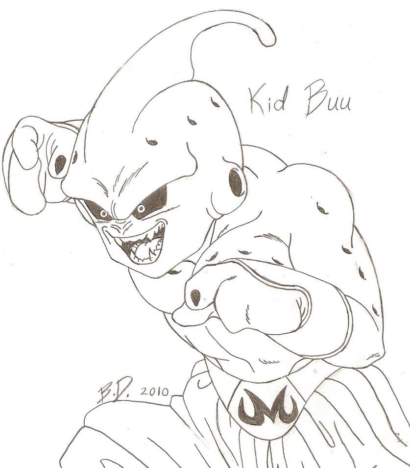 Dragonball Z Kid Buu By Bluepelt On DeviantArt
