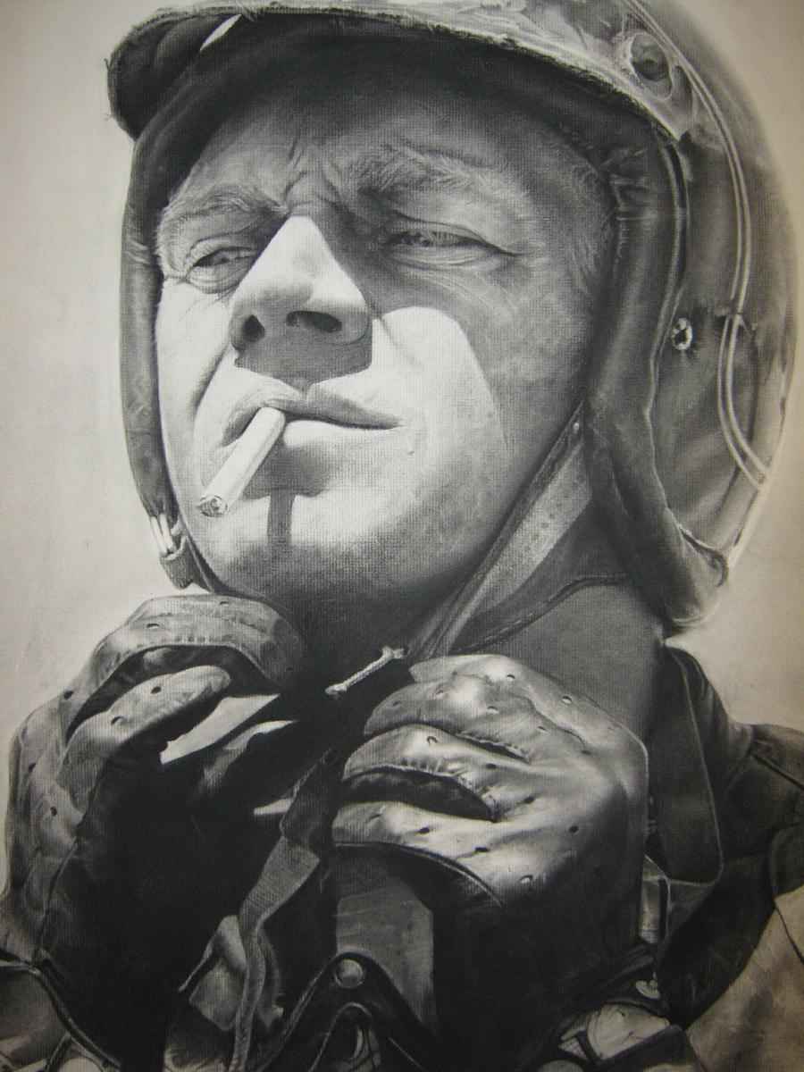 Steve McQueen Portrait by Sirenophilia