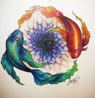 Yin Fish Yang Fish by Sirenophilia