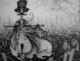 Scare-cello by Sirenophilia