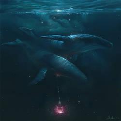 Cetacean lamp bearers: Blue by Sirenophilia