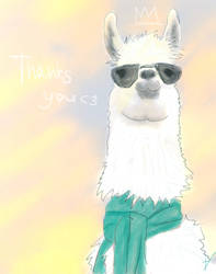 Thanks for the Llama by signore-illusionista
