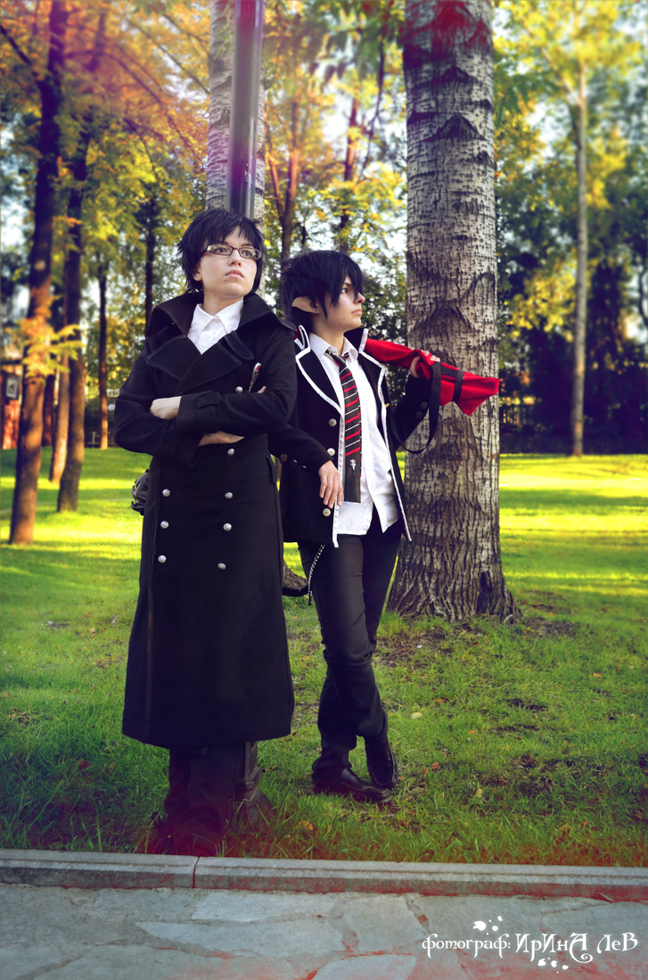 Okumura twins in park 5 by signore-illusionista