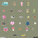 Variety of pixel objects