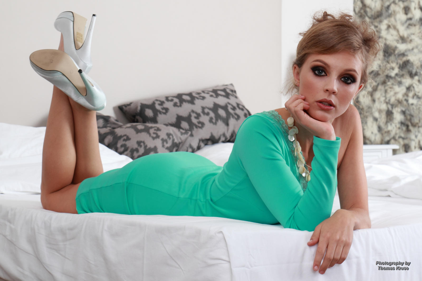 Anna in the green dress 14 by PhotographyThomasKru