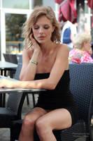 Anna in black dress without underwear 2 by PhotographyThomasKru