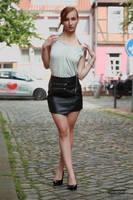 Lisa in black miniskirt by PhotographyThomasKru